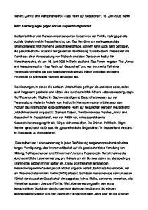 Bericht: Armut und Menschenrechte - Das Recht auf Gesundheit, 16. Juni 2008, Berlin