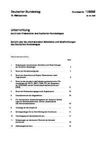 Bericht über die internationalen Aktivitäten und Verpflichtungen des Deutschen Bundestages