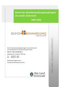 Bericht der Gleichbehandlungsbeauftragten des Landes Steiermark