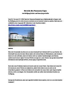 Bericht des Pannonia Cups: