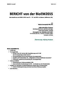 BERICHT von der BioEM2015