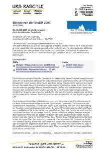 Bericht von der BioEM