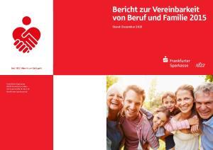 Bericht zur Vereinbarkeit von Beruf und Familie 2015