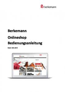 Berkemann Onlineshop Bedienungsanleitung