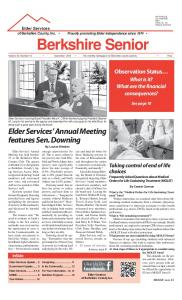 Berkshire Senior Volume 30, Number 12 December 2013 The monthly newspaper for Berkshire County seniors Free