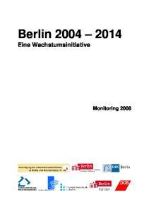 Berlin Eine Wachstumsinitiative