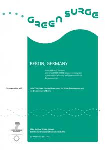 BERLIN, GERMANY. Holle Thierfelder, Senate Department for Urban Development and the Environment of Berlin