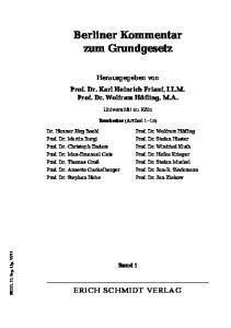 Berliner Kommentar zum Grundgesetz
