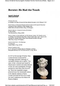 Bernini: He Had the Touch