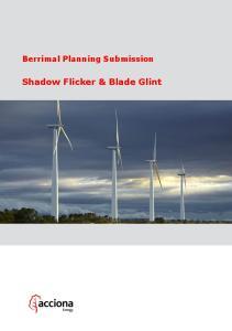 Berrimal Planning Submission. Shadow Flicker & Blade Glint
