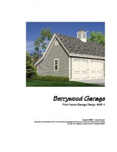 Berrywood Garage. Pole-Frame Garage Design #WB-11