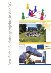 Berufliche Bildungsprojekte in der DG