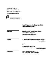Beschluss vom 20. Dezember 2013 Beschwerdekammer