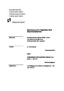 Beschluss vom 8. September 2016 Beschwerdekammer