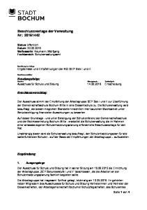 Beschlussvorlage der Verwaltung Nr.: