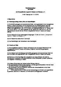 Beschlussvorlage: SATZUNG. der Evangelischen Jugend in Hessen und Nassau e. V. in der Fassung vom