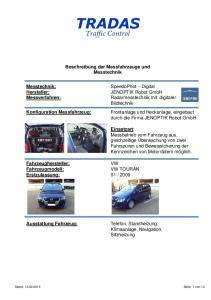 Beschreibung der Messfahrzeuge und Messtechnik
