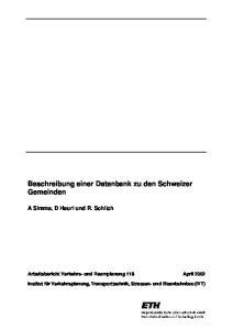 Beschreibung einer Datenbank zu den Schweizer Gemeinden