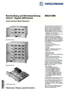 Beschreibung und Betriebsanleitung J Gigabit LAN Switch MACH Hirschmann. Simply a good Connection. Chassis, Basis Board, Module, Management