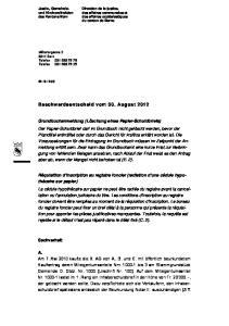 Beschwerdeentscheid vom 30. August 2012