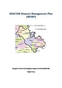 BESCOM Disaster Management Plan (BDMP)