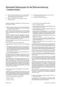 Besondere Bedingungen für die Risikoversicherung - Comfort-Schutz