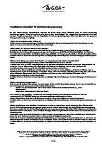 Besondere. Produktinformationsblatt für die Elektronikversicherung