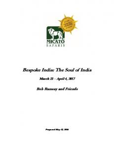 Bespoke India: The Soul of India