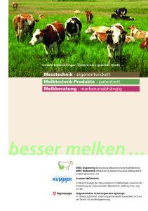 besser melken Messtechnik eigenentwickelt Melktechnik-Produkte patentiert Melkberatung markenunabhängig