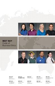 BEST BUY Code of Business Ethics BEST BUY BEST BUY BEST BUY. BEST BUY Código de Etica de Negocios BEST BUY. Code of Business Ethics