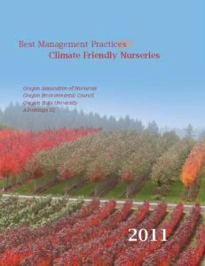Best Management Practices for Climate Friendly Nurseries