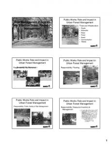 Best Management Practices for Effective Urban Forestry Management