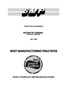 BEST MANUFACTURING PRACTICES