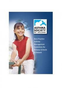 Best Practice Asthma Management Guidelines for Primary Schools in Ireland
