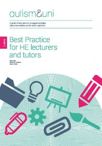 Best Practice for HE lecturers and tutors