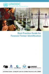 Best Practice Guide for Forensic Timber Identification
