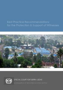 Best-Practice Recommendations for the Protection & Support of Witnesses