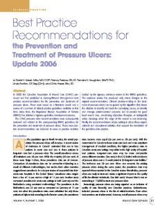Best Practice Recommendations for