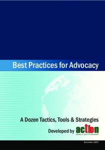 Best Practices for Advocacy