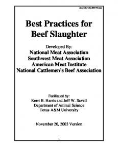 Best Practices for Beef Slaughter