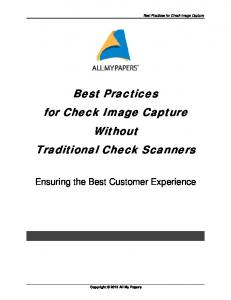 Best Practices for Check Image Capture Without Traditional Check Scanners