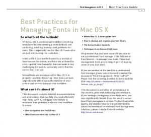 Best Practices for Managing Fonts in Mac OS X