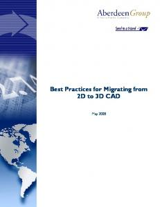 Best Practices for Migrating from 2D to 3D CAD