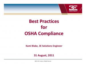 Best Practices for OSHA Compliance