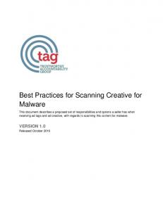 Best Practices for Scanning Creative for Malware