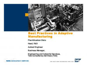 Best Practices in Adaptive Manufacturing