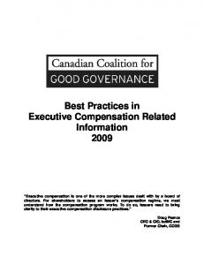 Best Practices in Executive Compensation Related Information 2009