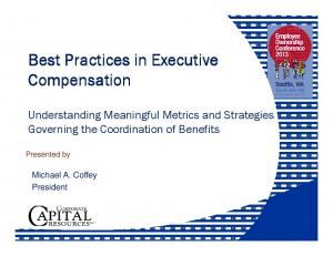 Best Practices in Executive Compensation
