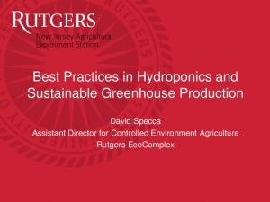 Best Practices in Hydroponics and Sustainable Greenhouse Production