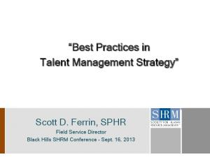 Best Practices in Talent Management Strategy